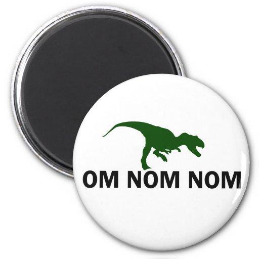 El dinosaurio Rawr de OM Nom Nom tiene hambre Imanes De Nevera