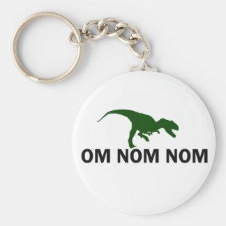 El dinosaurio Rawr de OM Nom Nom tiene hambre Llavero Redondo Tipo Pin
