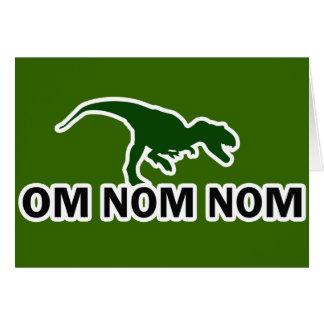 El dinosaurio Rawr de OM Nom Nom tiene hambre Tarjetas