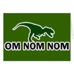 El dinosaurio Rawr de OM Nom Nom tiene hambre Tarjeta De Felicitación