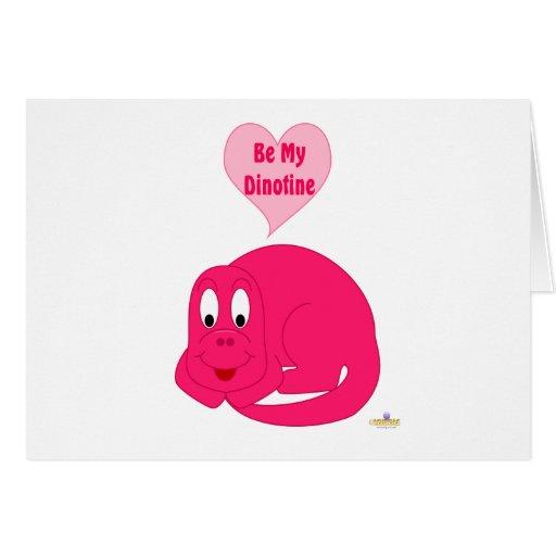 El dinosaurio rosado brillante del bebé lindo sea  tarjeta de felicitación