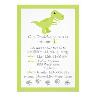 El dinosaurio T-rex embroma personalizar de la inv