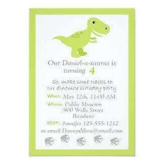 """El dinosaurio T-rex embroma personalizar de la Invitación 5"""" X 7"""""""
