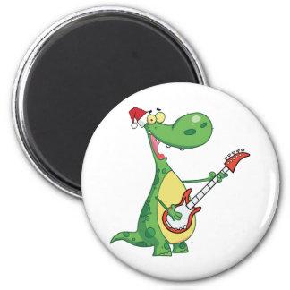 El dinosaurio toca la guitarra con el gorra de San Iman Para Frigorífico