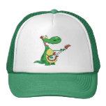 El dinosaurio toca la guitarra gorra