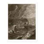 El Dioscuri protege una nave, 1731 (el grabado) Postal