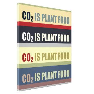 El dióxido de carbono es fortalecedor de plantas impresion en lona