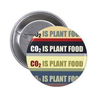 El dióxido de carbono es fortalecedor de plantas pin redondo de 2 pulgadas