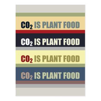 El dióxido de carbono es fortalecedor de plantas tarjeta postal