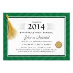 El diploma verde de la frontera con la graduación