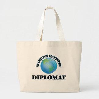 El diplomático más feliz del mundo bolsa tela grande