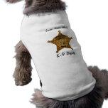 El diputado de sheriff K-9 camisetas sin mangas Camisetas De Mascota