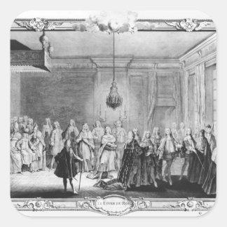 El dique de rey Louis XV Pegatina Cuadrada