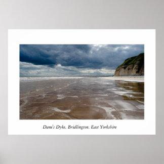 El dique del danés, Bridlington, Yorkshire del est Poster