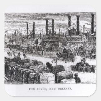 El dique, New Orleans Pegatina Cuadrada