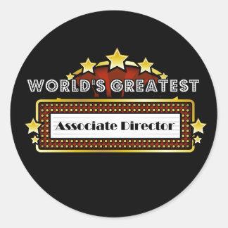 El director adjunto más grande del mundo etiqueta redonda
