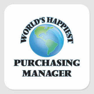 El director de compras más feliz del mundo pegatina cuadrada