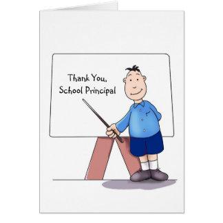 El director de escuela le agradece cardar, de estu tarjeta de felicitación