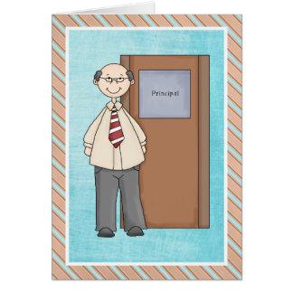 El director de escuela le agradece cardar tarjeta de felicitación
