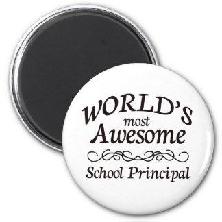 El director de escuela más impresionante del mundo imán redondo 5 cm