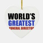 El director de funeraria más grande del mundo ornamento para arbol de navidad