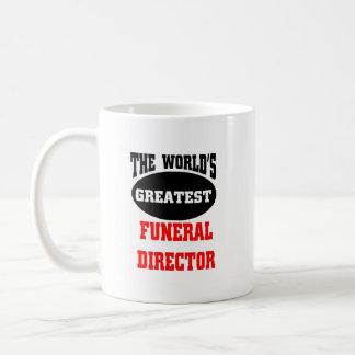 El director de funeraria más grande del mundo tazas de café