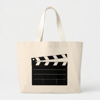 El director de película, cineasta, toma 1 bolsa lienzo