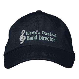 El director más grande de la banda del mundo gorras de béisbol bordadas
