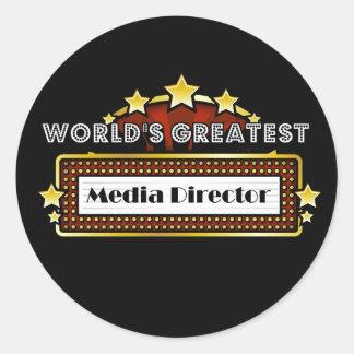 El director más grande de los medios del mundo pegatina redonda