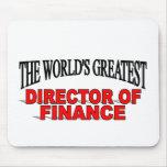 El director más grande del mundo de las finanzas alfombrilla de ratones