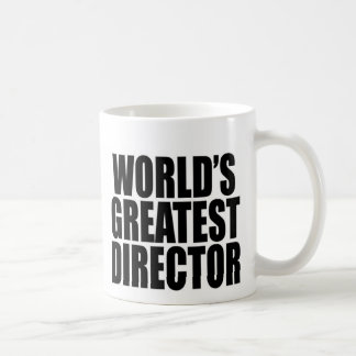 El director más grande del mundo taza básica blanca