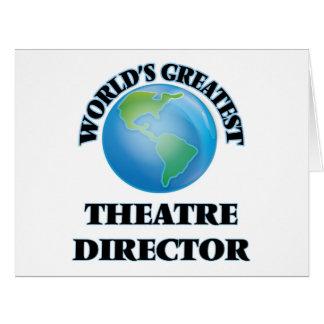 El director más grande del teatro del mundo tarjetón