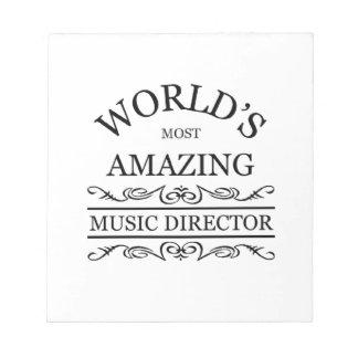 El director musical más asombroso del mundo bloc de papel