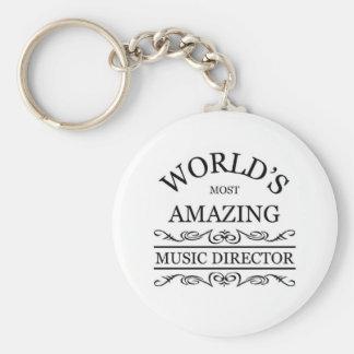 El director musical más asombroso del mundo llavero redondo tipo pin