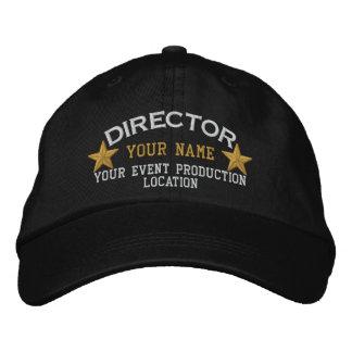 El DIRECTOR personalizado protagoniza el bordado Gorra Bordada