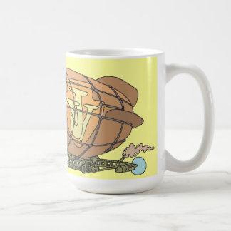 """El dirigible """"steampunk"""" Jules Verne Taza"""