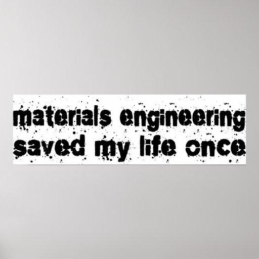 El dirigir de los materiales ahorró mi vida una ve poster