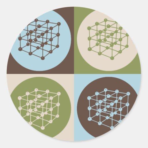 El dirigir de los materiales del arte pop pegatina redonda