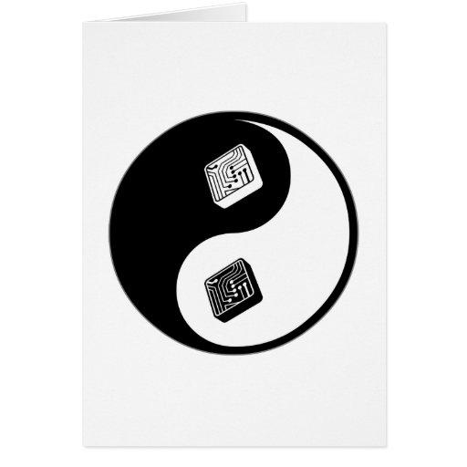 El dirigir de Yin Yang Tarjeta De Felicitación