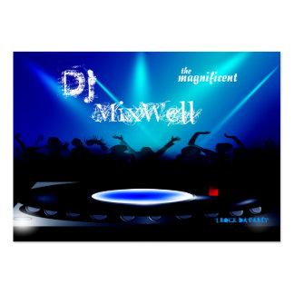 El disc jockey DJ va de fiesta la tarjeta de Tarjetas De Visita Grandes