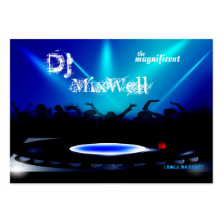 El disc jockey DJ va de fiesta la tarjeta de visit