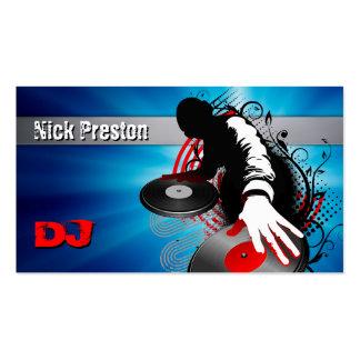 El disc jockey el | DJ mezcla golpes enrrollados Tarjetas De Visita