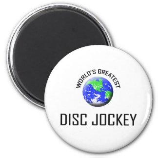 El disc jockey más grande del mundo imán redondo 5 cm