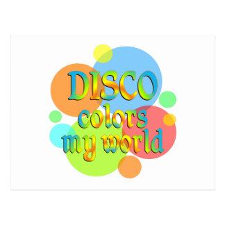 El disco colorea mi mundo postales