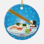 El disco DBL del sushi echó a un lado ornamento Adornos De Navidad