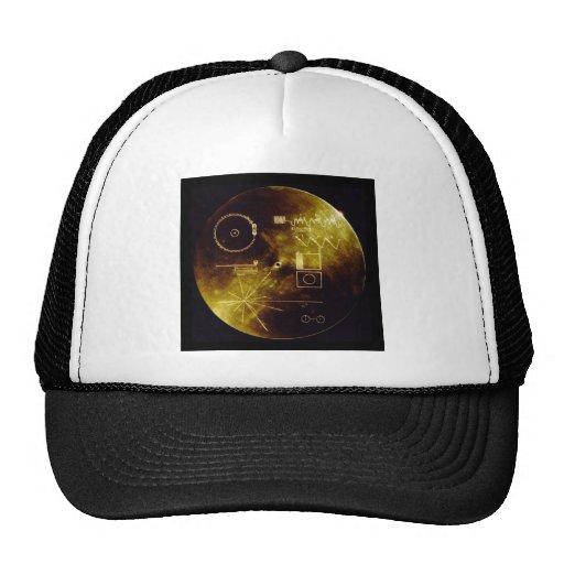 El disco de oro del viajero gorras de camionero