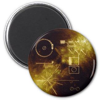El disco de oro del viajero imán
