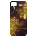 El disco de oro del viajero iPhone 5 protector