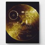 El disco de oro del viajero placa de madera