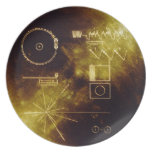El disco de oro del viajero plato de cena